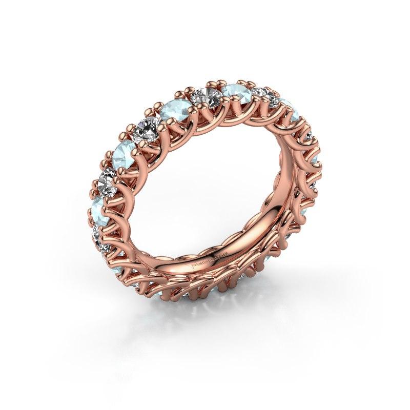 Ring Fenna 585 rosé goud diamant 1.10 crt