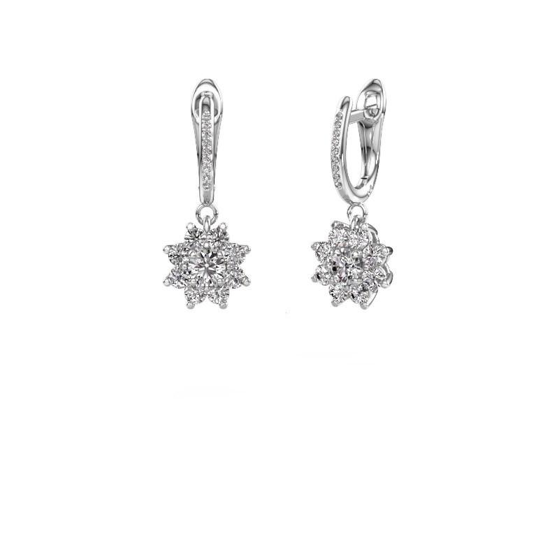 Oorhangers Camille 2 585 witgoud diamant 1.425 crt