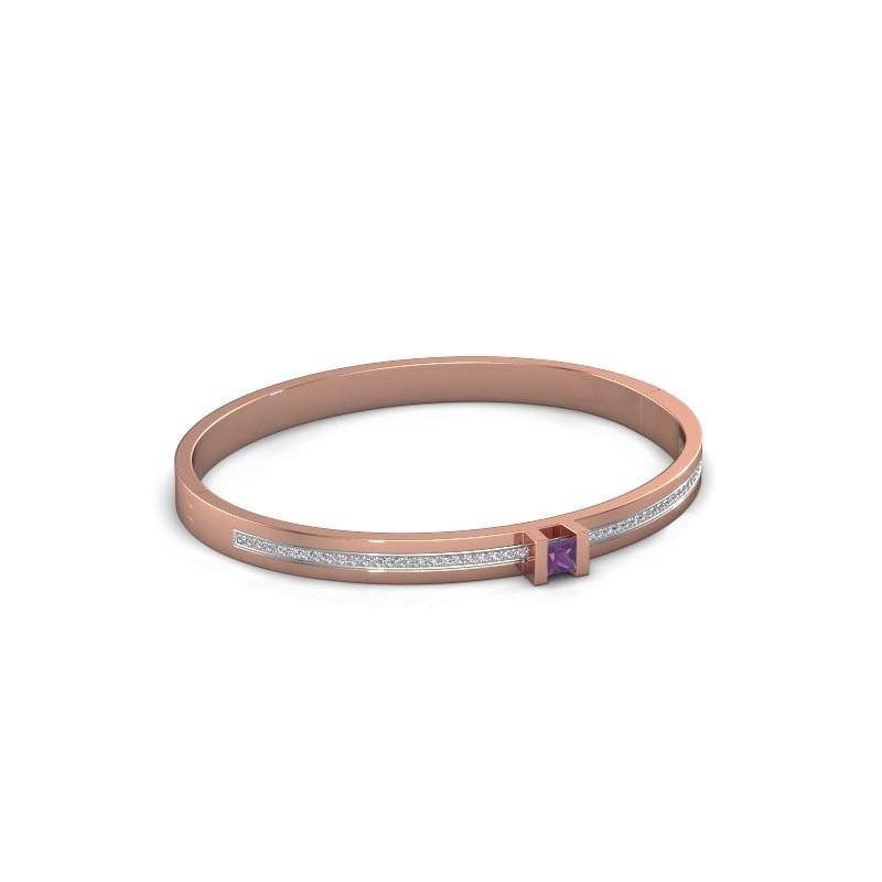 Armband Desire 585 rosé goud amethist 4 mm