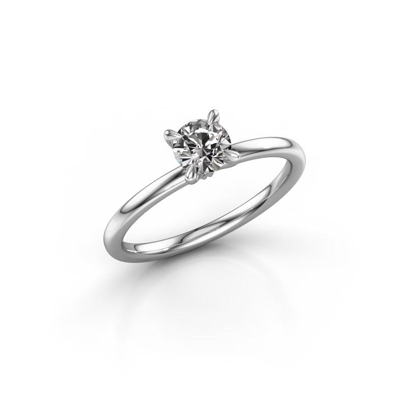 Verlovingsring Crystal RND 1 585 witgoud lab-grown diamant 0.50 crt