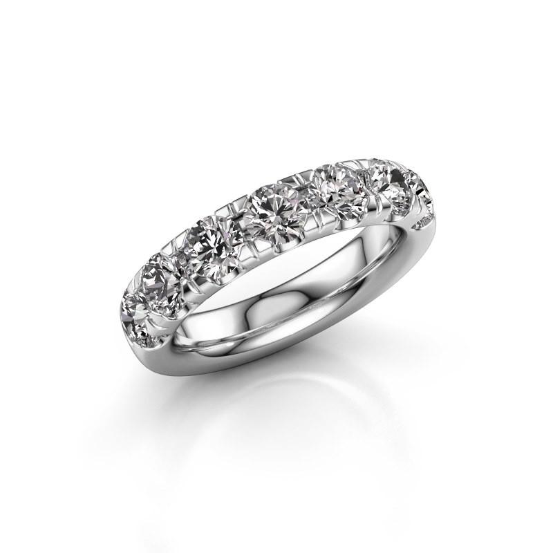 Aanschuifring Jackie Half 950 platina diamant 2.10 crt
