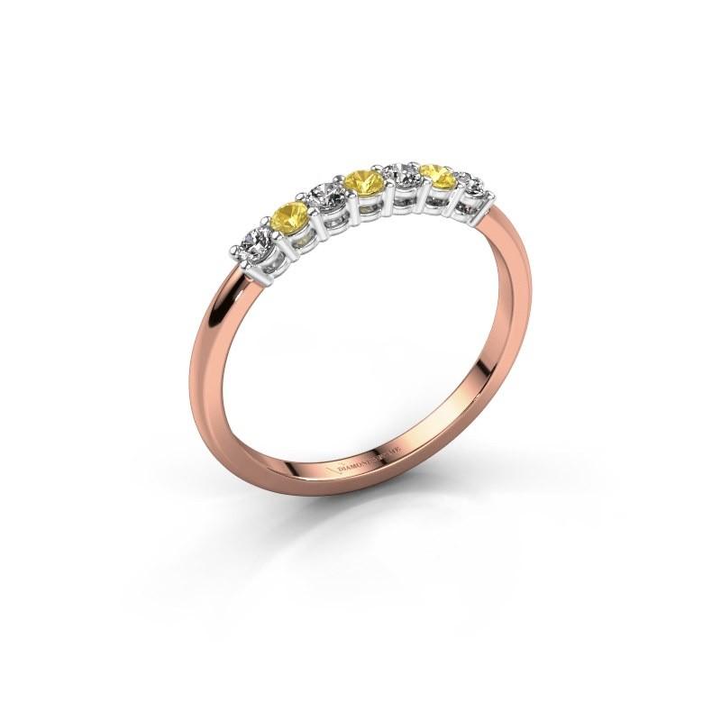 Verlobungsring Michelle 7 585 Roségold Gelb Saphir 2 mm