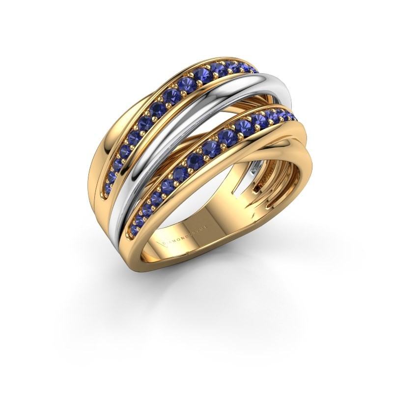 Ring Marylouise 2 585 gold sapphire 1.2 mm