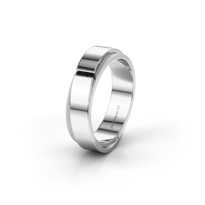 Ehering WH6012LX6A 585 Weißgold Schwarz Diamant ±6x1.7 mm