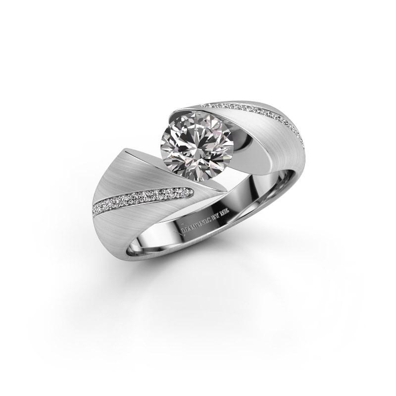 Verlovingsring Hojalien 2 925 zilver diamant 1.12 crt