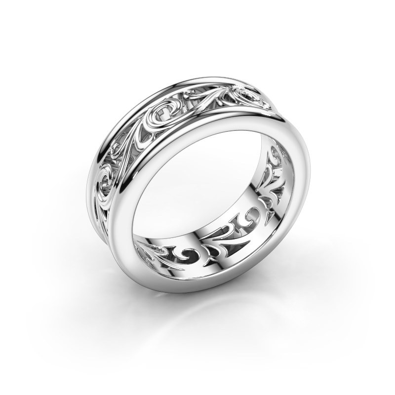 Wedding ring Karlijn 585 white gold ±0.28x0.09in