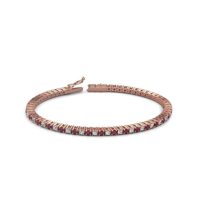 Tennis bracelet Karisma 375 rose gold rhodolite 2.4 mm