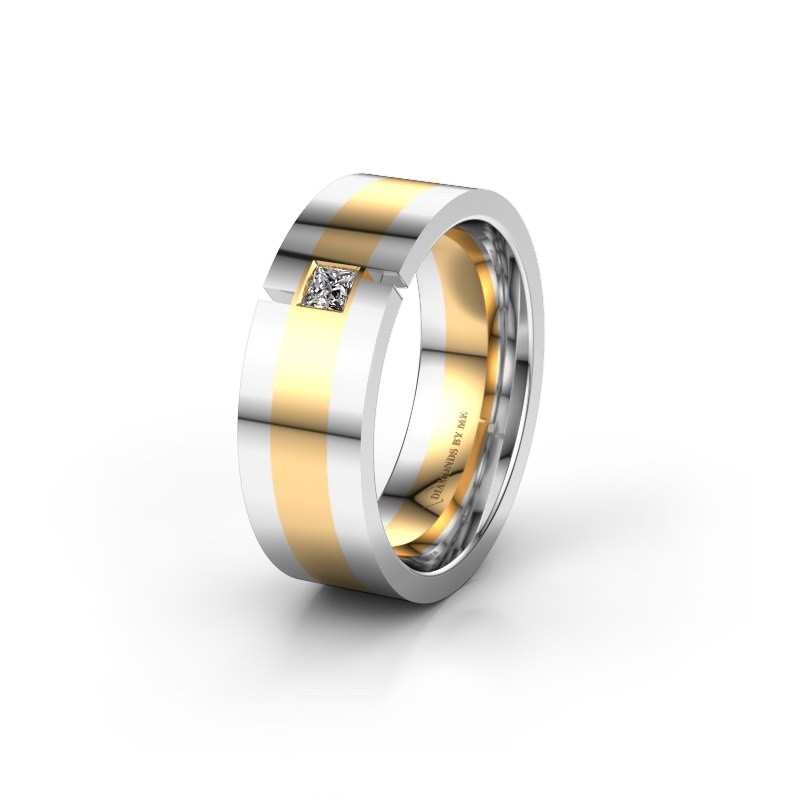 Trouwring WH2042P 585 goud lab-grown diamant ±7x2.4 mm