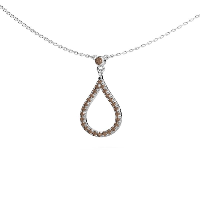 Ketting Alona 925 zilver bruine diamant 0.29 crt