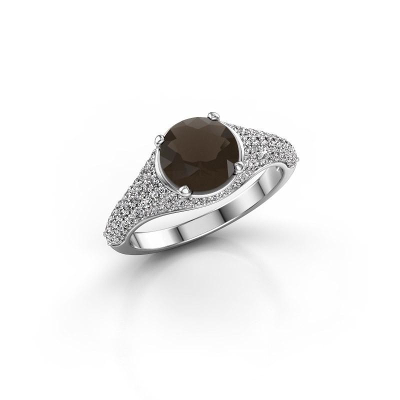 Ring Lovella 925 zilver rookkwarts 7 mm