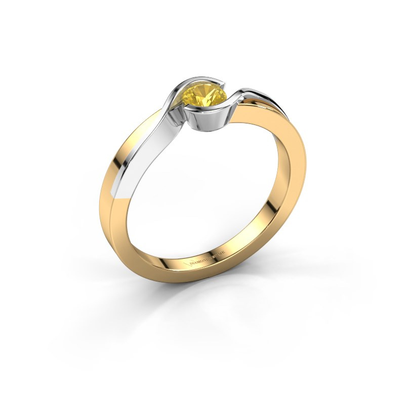 Ring Lola 585 Gold Gelb Saphir 4 mm