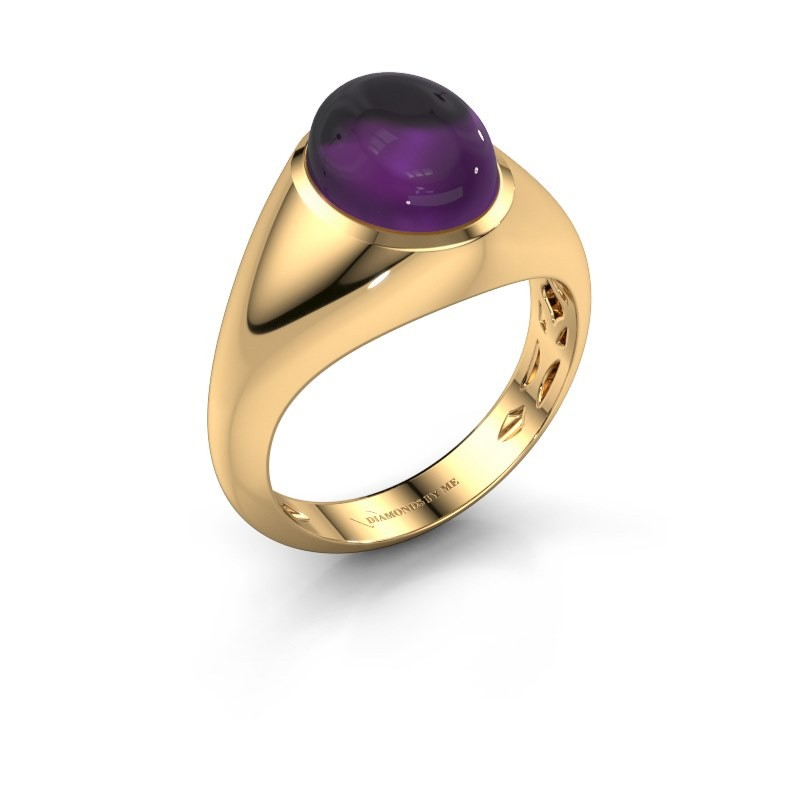 Ring Zaza 375 goud amethist 10x8 mm
