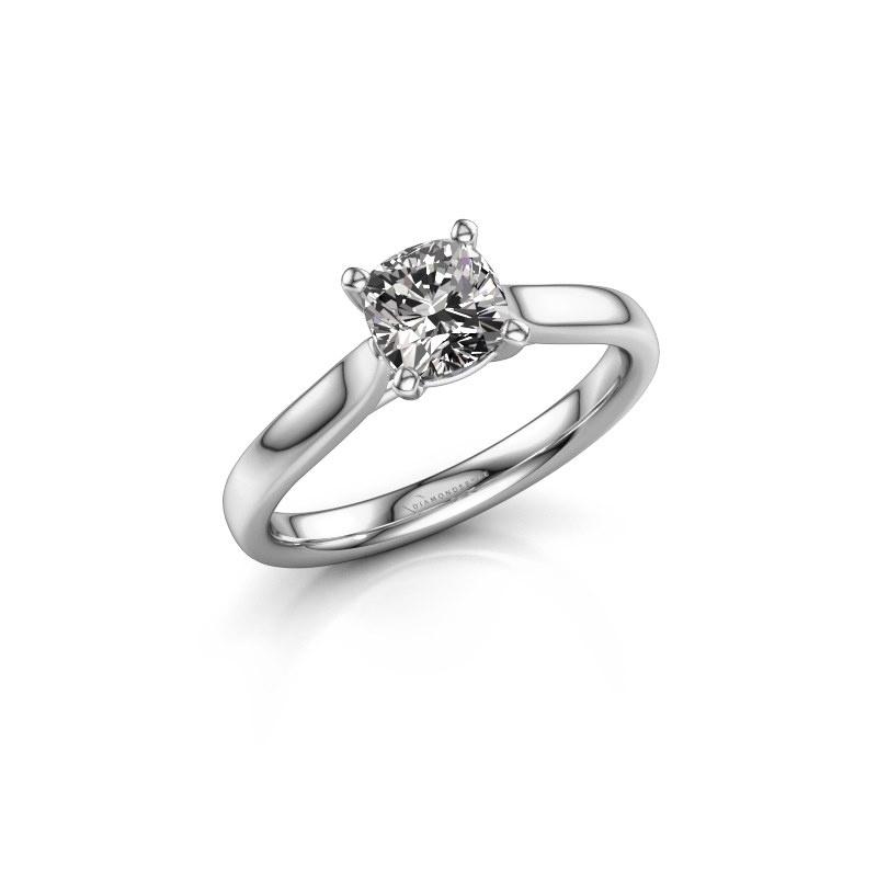 Verlovingsring Mignon cus 1 585 witgoud diamant 1.00 crt