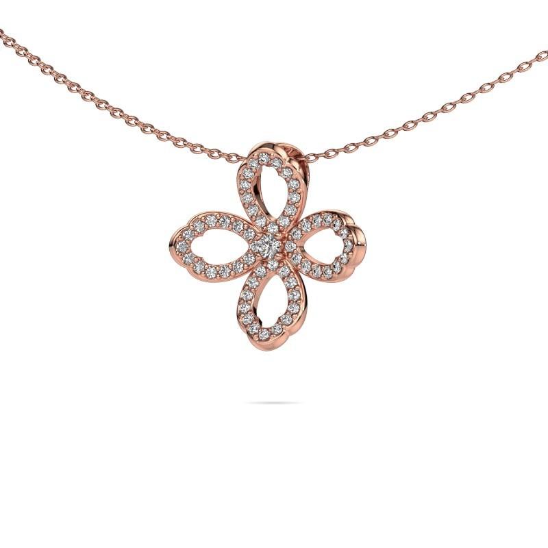 Ketting Chelsea 375 rosé goud diamant 0.31 crt