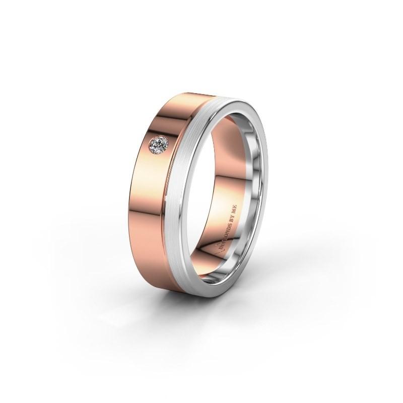 Trouwring WH0301L16APM 585 rosé goud zirkonia ±6x1.7 mm