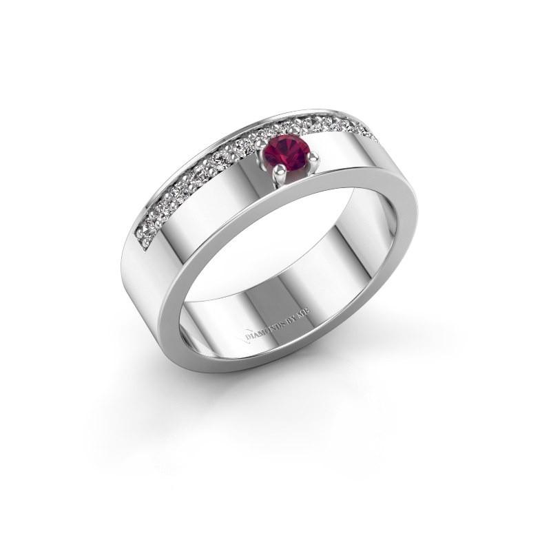 Ring Vicki 925 zilver rhodoliet 3 mm