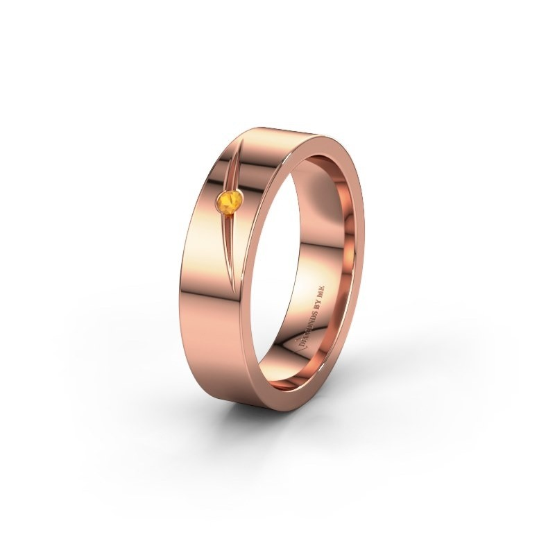 Wedding ring WH0170L15A 375 rose gold citrin ±0.20x0.07 in