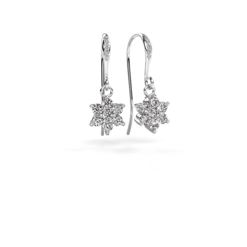 Oorhangers Dahlia 2 950 platina lab-grown diamant 0.69 crt