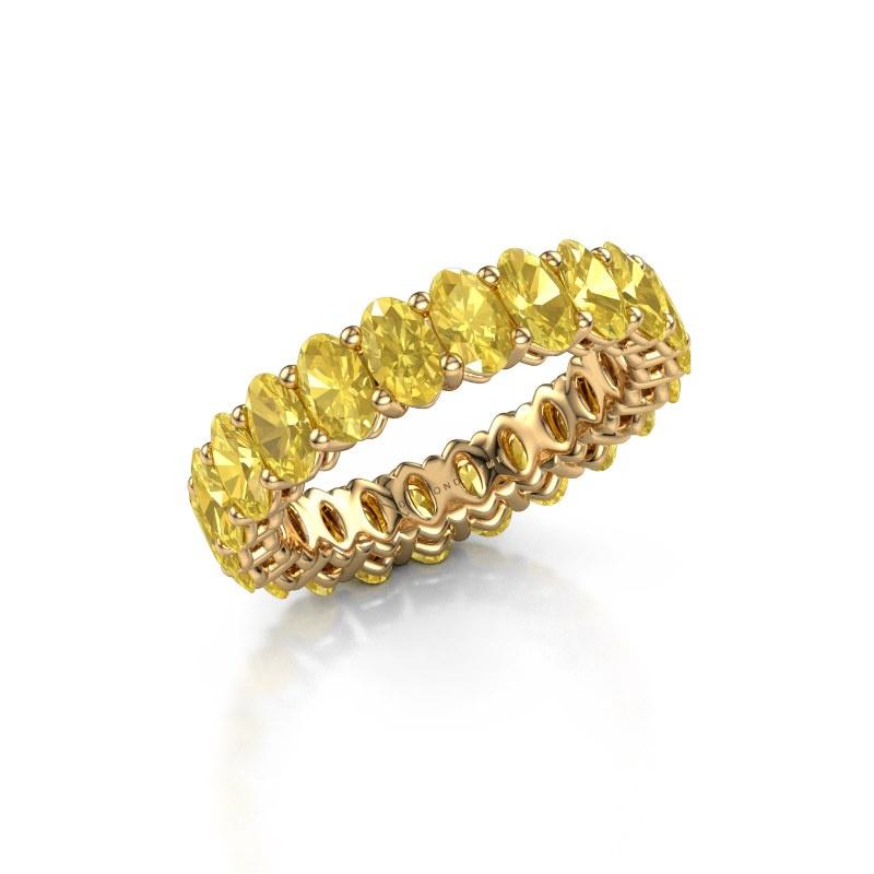 Vorsteckring Heddy OVL 3x5 585 Gold Gelb Saphir 5x3 mm