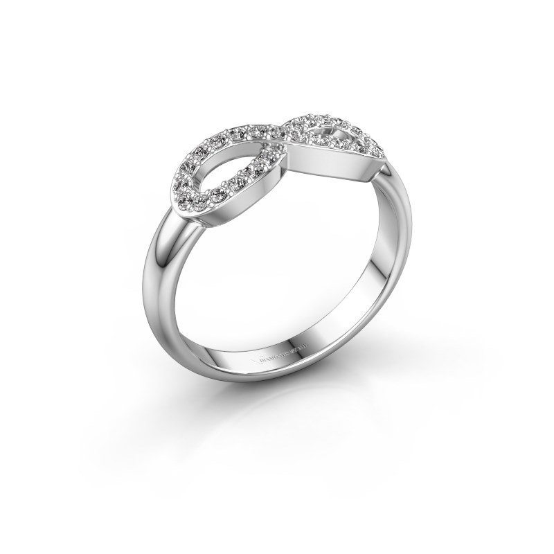 Ring Infinity 2 925 zilver zirkonia 1.2 mm