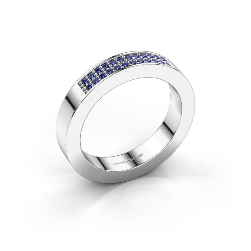 Stackable ring Catharina 1 585 white gold sapphire 1.1 mm