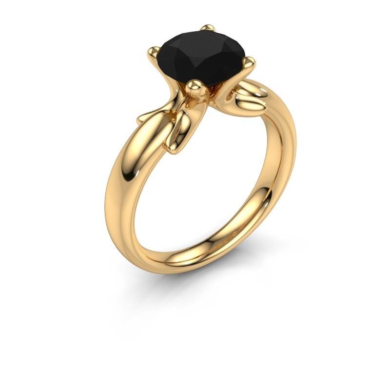 Bague Jodie 585 or jaune diamant noir 2.40 crt