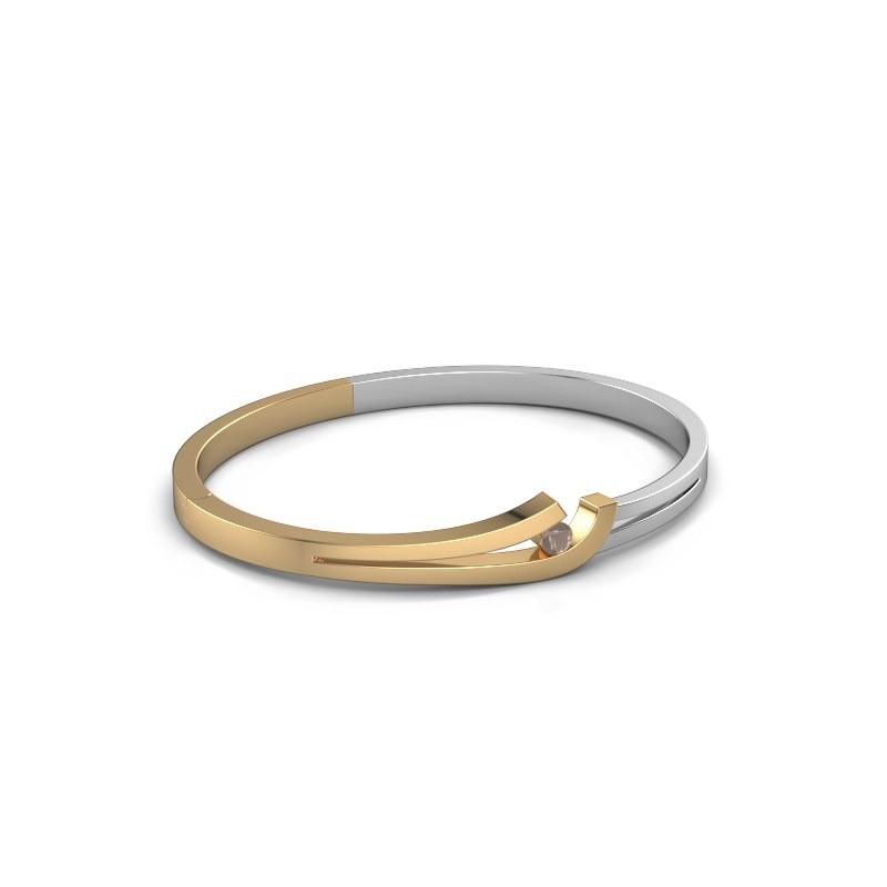 Slavenarmband Yentl 585 goud rookkwarts 3.7 mm