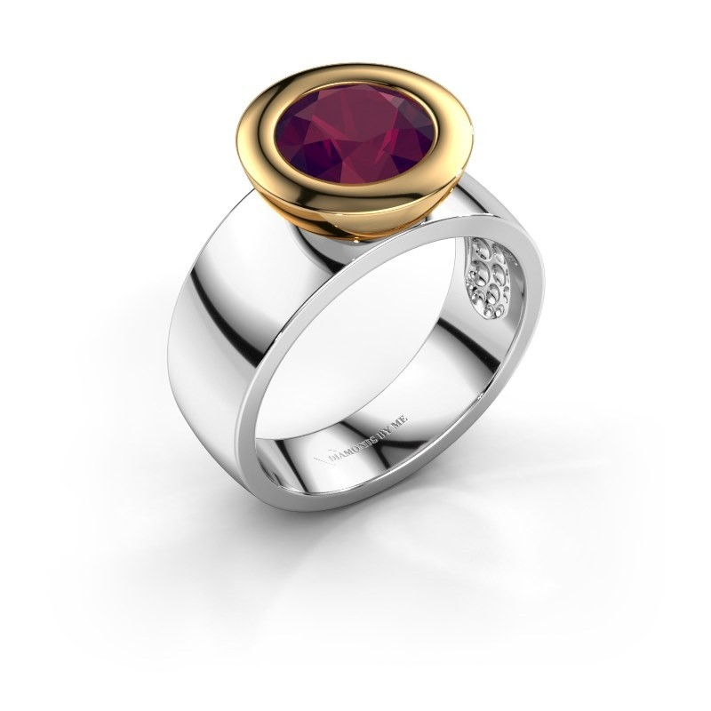 Ring Maxime 585 white gold rhodolite 8 mm