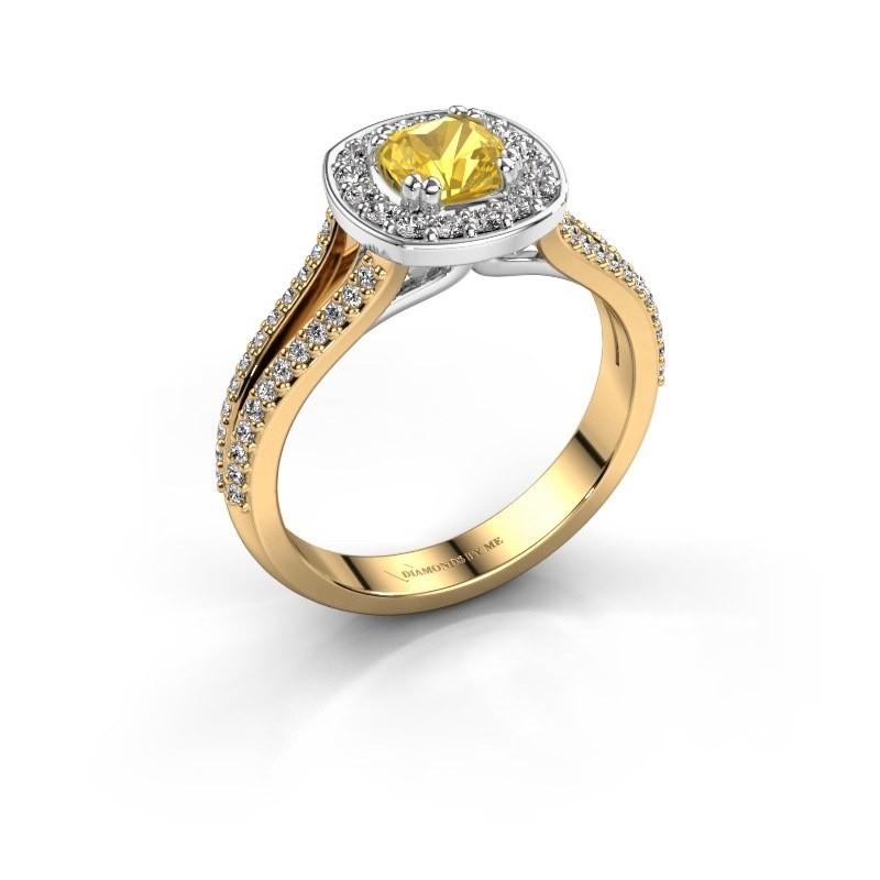 Engagement ring Carolina 2 585 gold yellow sapphire 5 mm