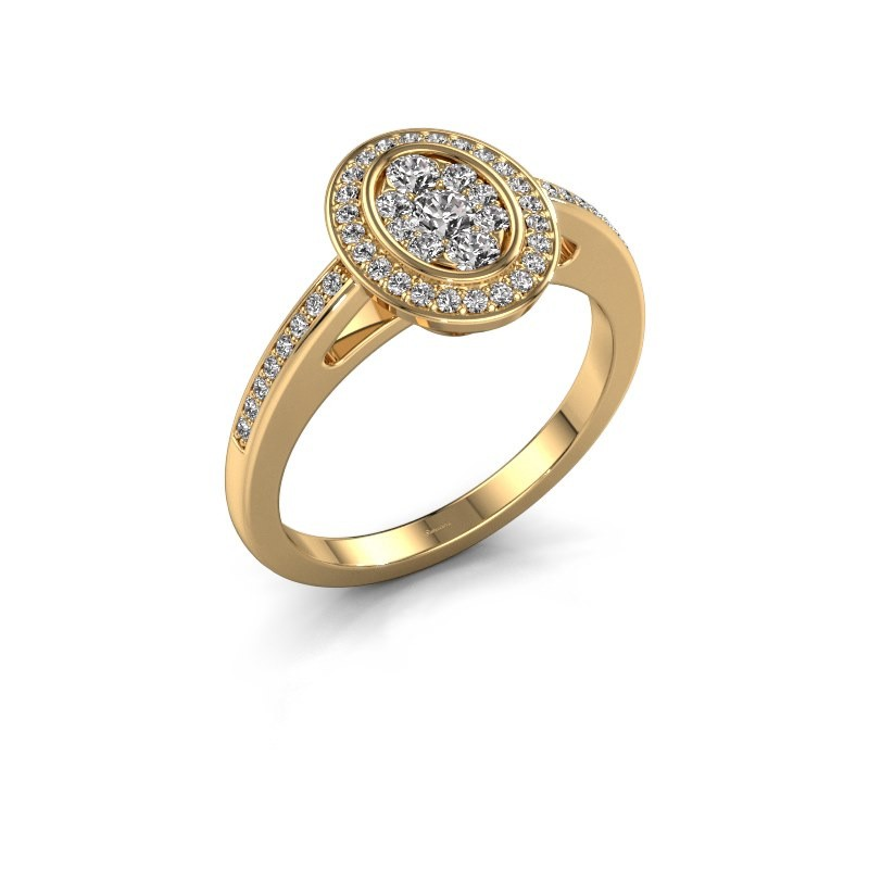 Promise ring Brigitte 375 gold diamond 0.505 crt