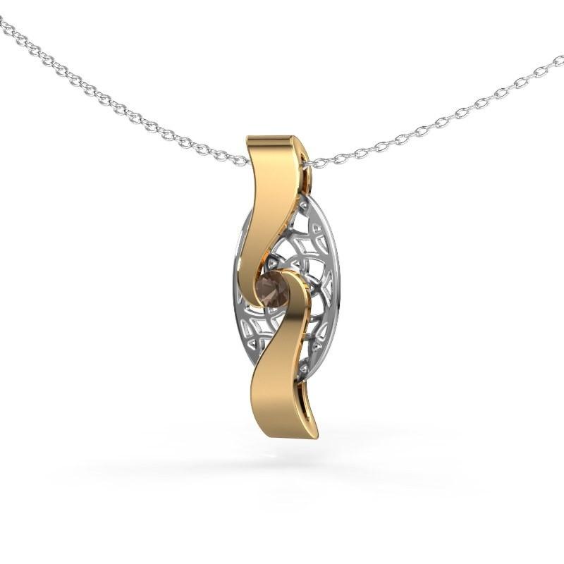Hanger Darleen 585 goud rookkwarts 3 mm
