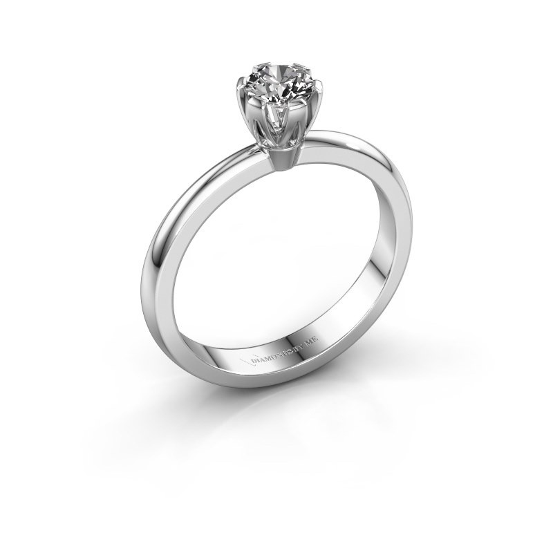 Verlovingsring Julia 585 witgoud diamant 0.25 crt