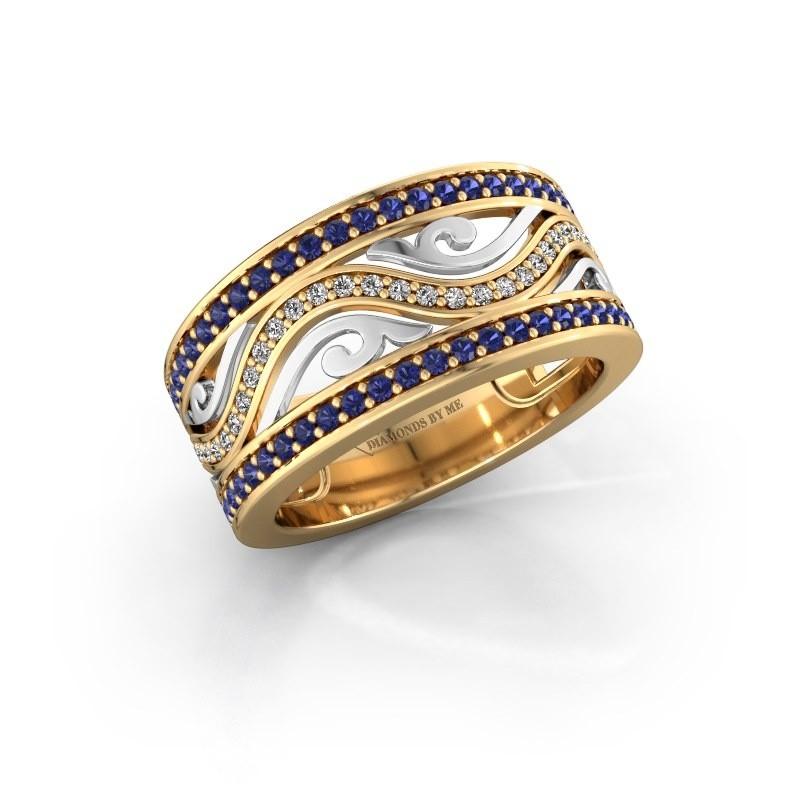 Ring Louvenia 585 gold sapphire 1.2 mm