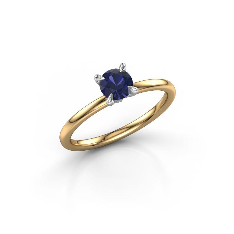 Verlobungsring Crystal RND 1 585 Gold Saphir 5 mm