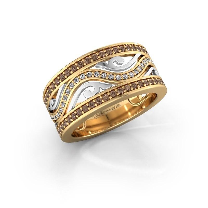 Bague Louvenia 585 or jaune diamant brun 0.72 crt