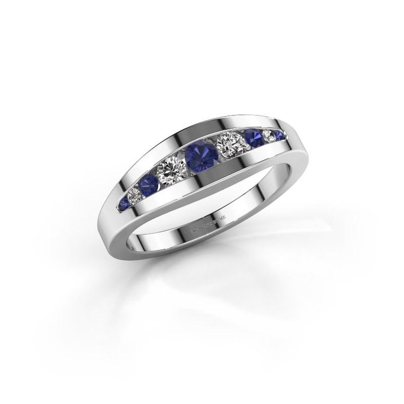 Ring Oneida 925 silver sapphire 3 mm