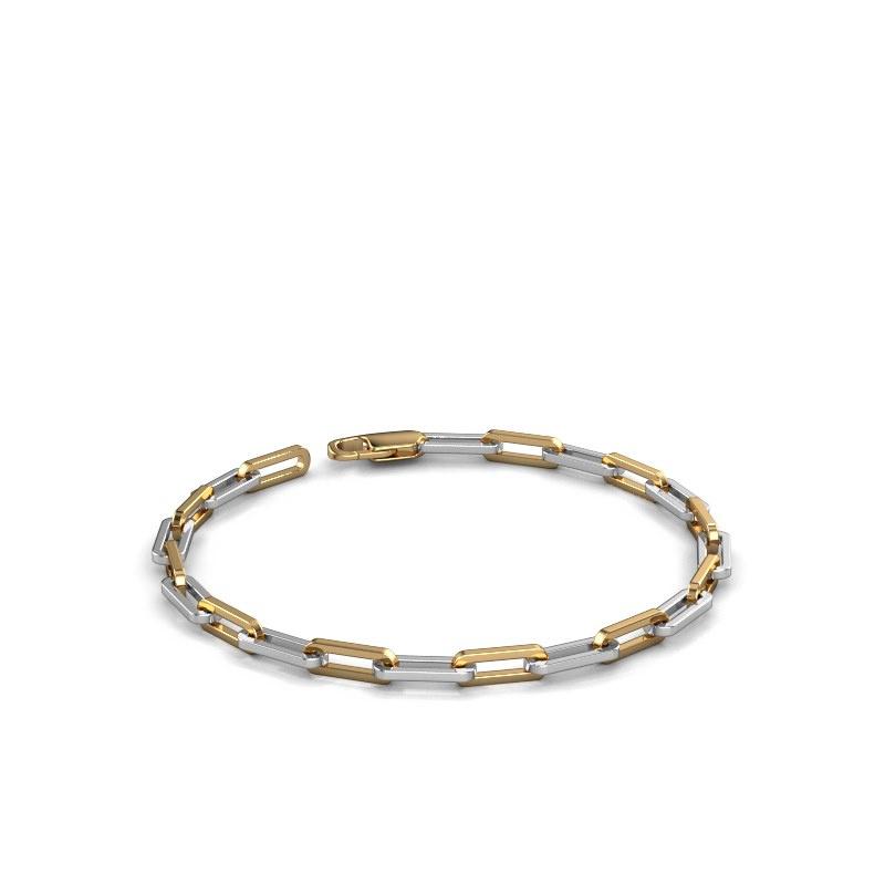 Armband CFE sqr 4.0 585 witgoud ±4 mm