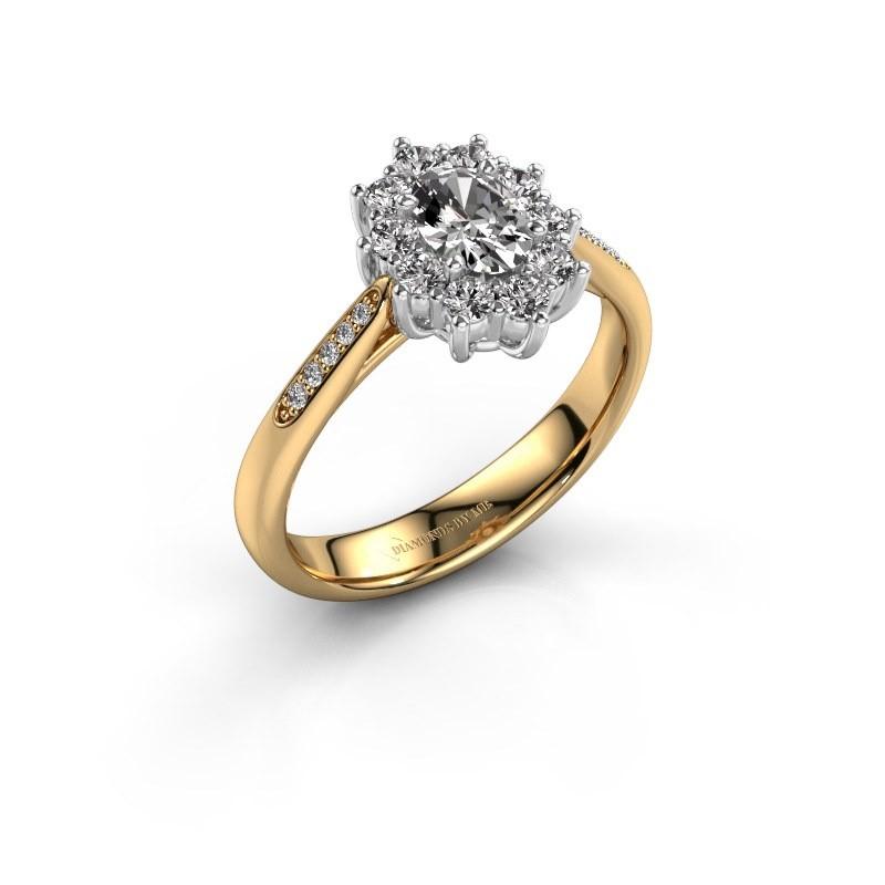 Engagement ring Leesa 2 585 gold diamond 0.50 crt