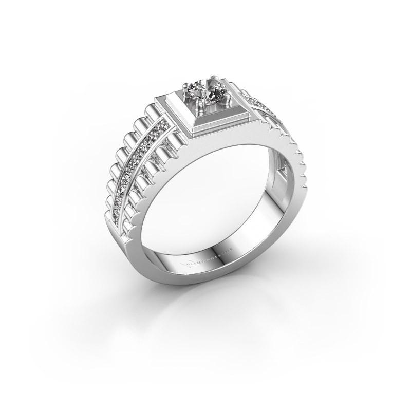 Men's ring Maikel 585 white gold diamond 0.54 crt