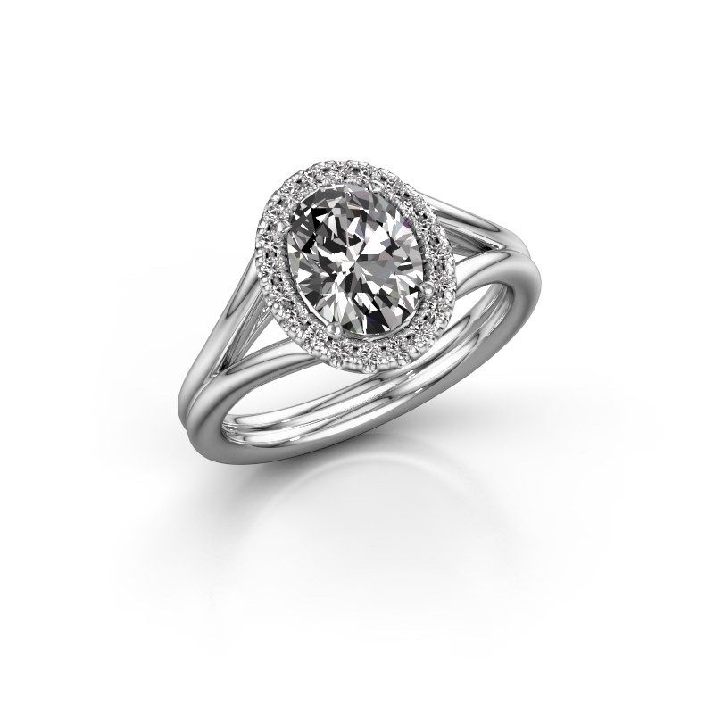 Engagement ring Rachele 1 585 white gold diamond 1.300 crt