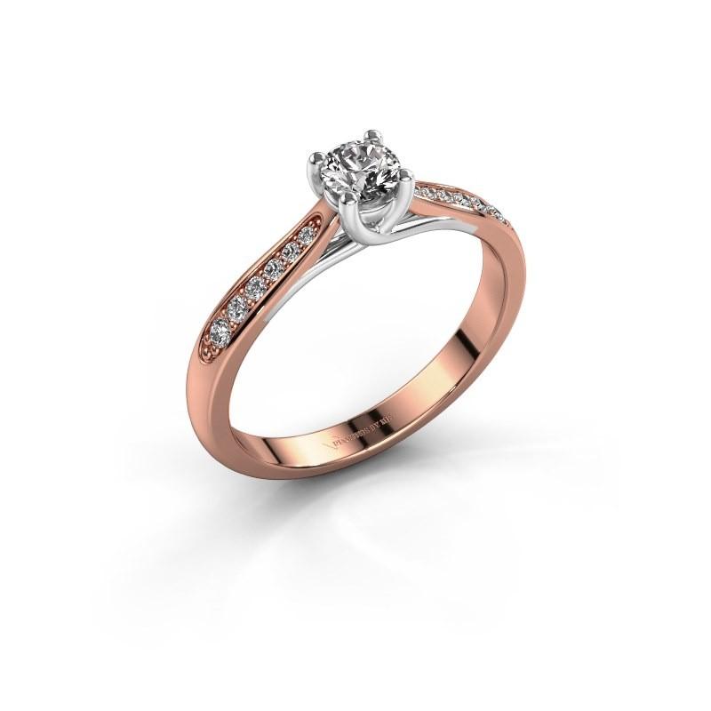 Engagement ring Mia 2 585 rose gold diamond 0.30 crt