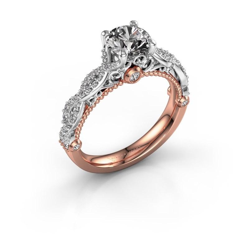 Verlovingsring Chantelle 585 rosé goud diamant 1.399 crt