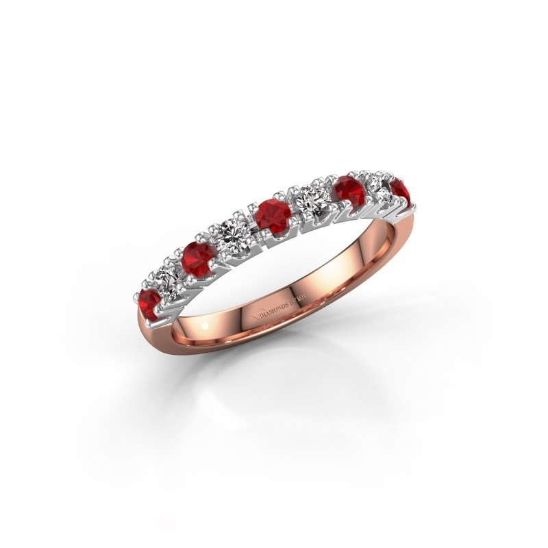 Engagement ring Rianne 9 585 rose gold ruby 2.4 mm