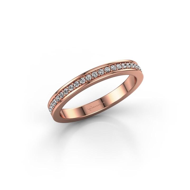 Stackable ring SRH0030B20H4 375 rose gold diamond 0.173 crt