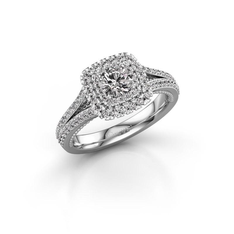 Verlobungsring Annette 950 Platin Diamant 0.972 crt