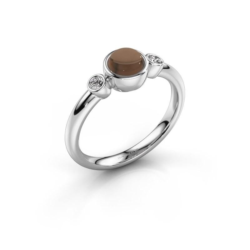 Ring Muriel 925 zilver rookkwarts 5 mm