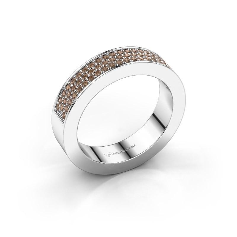Ring Lindsey 2 950 platina bruine diamant 0.436 crt