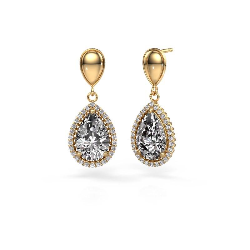Oorhangers Tilly per 1 585 goud diamant 6.42 crt