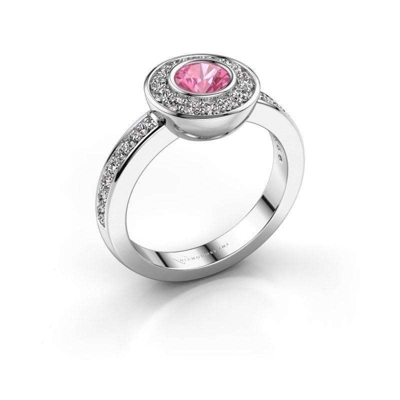 Ring Ivy 925 Silber Pink Saphir 5 mm