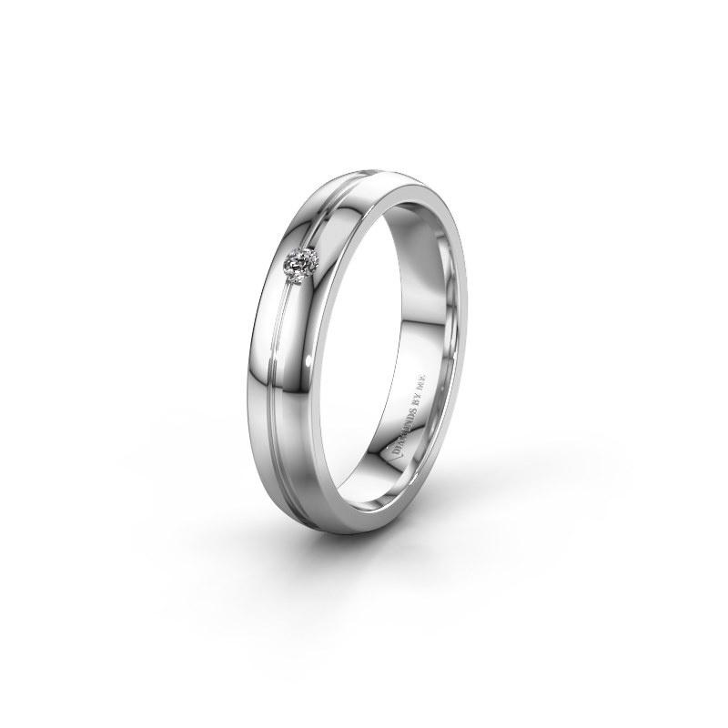 Trouwring WH0424L24A 950 platina diamant ±4x1.7 mm